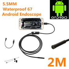 2M 5.5mm 6 LED Waterproof Endoscope Borescope Snake Inspection Video Camera