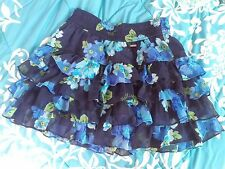 Hollister Women's Small Blue Floral Ruffle Skirt Size Small Barely Used!
