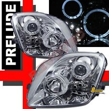 97 98 99 00 01 Honda Prelude Dual Halo LED Projector Headlights Chrome 1 Pair