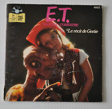"""E.T. Extra Terrestrial 7"""" FRENCH Story Record 1982 DREW BARRYMORE"""