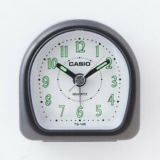 "Casio TQ148-1D Travel Desk ""WAKE UP"" Alarm Clock Resin Case Small Portable NEW"