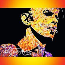 Pintura Original Firmado Grande Con Textura el coleccionista de arte inversión David Bowie Uk