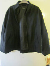 Mens Plain Black Moto Top Man Topman Blouson / Jacket Size Large Chest 48""