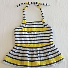 2T Janie and Jack Striped Baby Dress Sundress Halter Summer 2 4th of July Girls