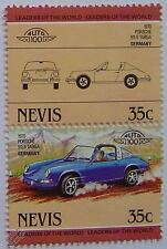 1970 PORSCHE 911S TARGA Car Stamps (Leaders of the World / Auto 100)