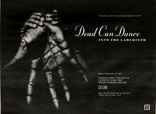 18/9/93PGN13 DEAD CAN DANCE : INTO THE LABYRINTH ALBUM ADVERT 7X11""