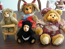ROBERT RAIKES ORIGINALS 4 STUFFED BEARS