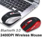Wireless Bluetooth 6D 2400DPI USB Optical Gaming Mouse Mice Mat for Laptop Lot