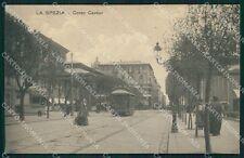 La Spezia città tram cartolina XB3560