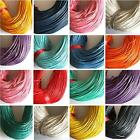 WAXED COTTON CORD 10 MTRS 1.0mm 1.5mm 2mm COLOUR CHOICE 10mtrs