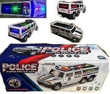 lightup SUPER POLICE SUV CAR battery oper WITH MUSIC flashing lights NEW cop toy