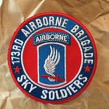 "173rd Airborne Brigade ""Sky Soldiers"" Military Patch"