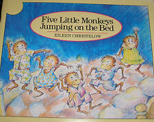 FIVE LITTLE MONKEYS Jumping on the Bed (Brand New Paperback) Eileen Christelow