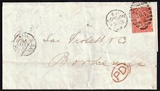 GB 1868 4d sg 94 p 10 used on wrapper 105 London 13 Feb 1869*