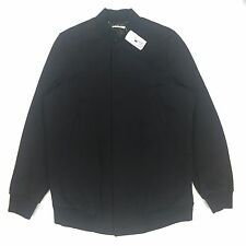 NWT $1.5k Paul Smith RUNWAY Men's Elongated Navy Knit Bomber Jacket L AUTHENTIC