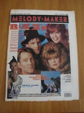 MELODY MAKER 1990 APRIL 7 B52S GRACE JONES BEATS INTERNATIONAL BLACKADDER