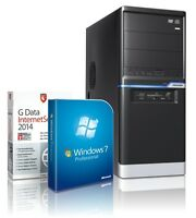Quad Core Computer AMD Quad A8 6600K 8GB 4GB-Radeon8570 1TB Windows 7 Prof