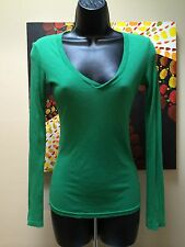 Fancy! designer MICHAEL STARS ! One Size Fits Most green woven long sleeve top
