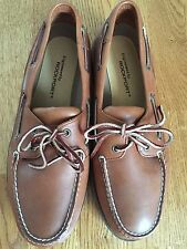 Rockport Leather Shoes Size 11.5 Men's Brown Loafers Boat / Deck