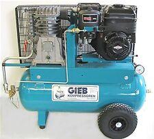GIEB Kompressor Kompressoren 550/60-10 Bar,Benzinmotor 6,52 PS  Gasregul.