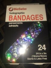 Holographic Band Aids Bandages Silver Glitter 24 In pack Kids Adults Latex Free