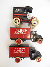 Used Lot Three Ertle 3027 Replica 1905 Ford Texas Company Trucks Coin Banks
