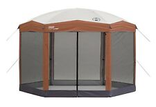 Coleman 12' x 10' Instant Screened CANOPY, Two Room Hexagon SCREENED TENT