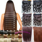 3/4 full head One piece Clip in Hair Extensions straight curly great hair salon