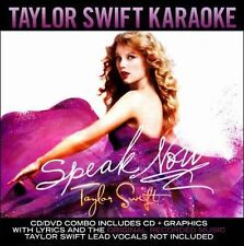 Speak Now: Taylor Swift Karaoke [CD/DVD] by Taylor Swift PLUS GRAPHICS!.