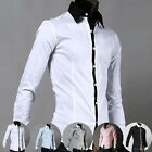 Gentleman Mens Formal White Collar Wed Tuxedo Formal Dress Shirts Causal Shirts