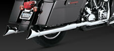 Vance & Hines Chrome Dresser Duals Header Pipes Exhaust Harley Touring 95-08