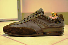 Ermenegildo Zegna Sz. 10 D/M Sneakers Leather Brown Suede Italy $375