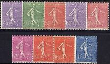 """FRANCE STAMP 1924-32 Y&T 197 / 205 """" SEMEUSES SERIE 9 TIMBRES """", NEUFS xx TTB"""