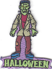 """HALLOWEEN"" FRANKENSTEIN MONSTER PATCH-Iron On Embroidered Patch/Holiday,Scary"