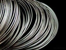 200 un. Tono Plata Alambre De Memoria bucles 80mm - 85mm De Diámetro thicnkess 0,6 mm K21