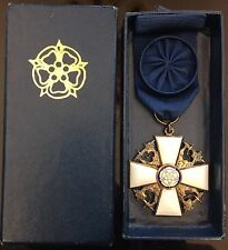 Finland 1939 - 1946 WWII MEDAL WHITE ROSE CROSS ORIGINAL RIBON BAR BOX