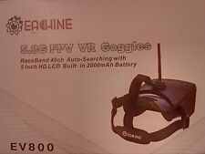 New! Eachine EV800 5 Inches 800 x 480 FPV Goggles 5.8G 40CH Raceband Upgraded