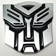 TRANSFORMERS CAR BADGE AUTOBOT 3D CHROME STICKER EMBLEM DECAL LOGO UK SELLER NEW