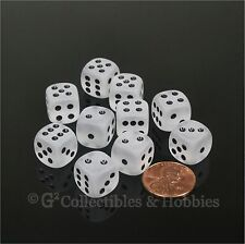 NEW 10 Frosted Clear 12mm D6 Set Six Sided RPG MTG Game Dice WARHAMMER