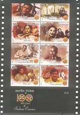 INDIA 2013 Complete Set of 6 Miniatures / Sheetlet of 100 Years of Indian Cinema
