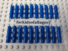 20 Lego Technic Blue Pins Axles w/Friction Extra Long Connector Pegs Mindstorms