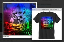 BABY GROOT THE DJ T'SHIRT