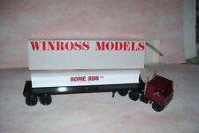 1983 Home Run Movers Winross Diecast Flat Bed With I Beam Load Trailer Truck