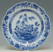@ GREAT @ Antique Chinese 18th C Porcelain Blue & White Export Plate Qianlong 1