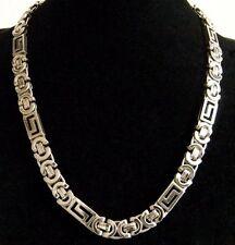 Lujo Collar para los hombres Mujer Acero Cadena Cadena Cuello 002-silber