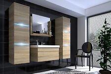 Badmöbel Set 5-Tlg Sonoma Eiche matt  -Dream- inkl.Waschtisch