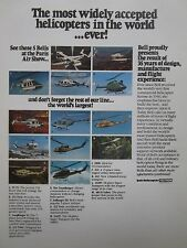 6/1981 PUB BELL HELICOPTER COBRA XV-15 412 222 214 JETRANGER PARIS AIR SHOW AD