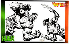 2014 SDCC HULK vs WOLVERINE ART PRINT by DAVID FINCH & RICHARD FRIEND -  11x17