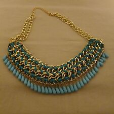 Bohemian Egyptian Vintage Multilayer Collar Turquoise Necklace Choker Chain