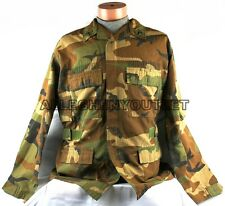 USGI Military NOMEX IABDU AIRCREW BDU SHIRT COAT Woodland Camo Medium / Long VG